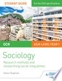 OCR Sociology Student Guide 2  Researching and understanding social inequalities