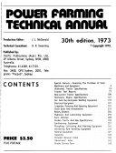 Power Farming Technical Annual