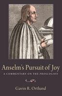 Book Anselm's Pursuit of Joy