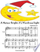 A Meteor Bright It   s Wondrous Light   Easy Piano Sheet Music Junior Edition
