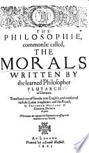 The Philosophie, Commonlie Called, the Morals