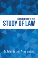 download ebook introduction to the study of law pdf epub