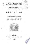 Apontamentos para a biographia do cidadão José da Silva Passos