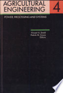 Agricultural Engineering  Volume 4  Power  processing and systems