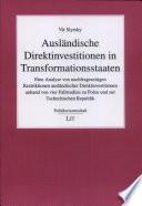 Ausländische Direktinvestitionen in Transformationsstaaten