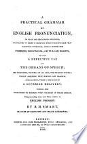 A practical grammar of English pronunciation