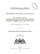 Ethnographie der Oesterreichischen monarchie