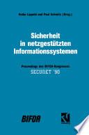 Sicherheit in netzgestützten Informationssystemen