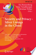 Security and Privacy   Silver Linings in the Cloud