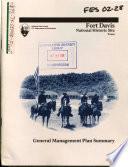 Fort Davis National Historic Site, General Management Plan