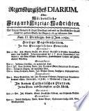 Regensburgisches Diarium oder wöchentliche Frag- und Anzeige-Nachrichten
