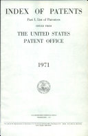 Index Of Patents Issued From The United States Patent Office book