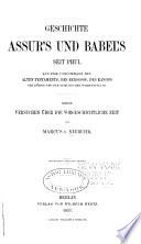 Geschichte Assur s und Babel s seit Phul