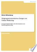 Zielgruppenorientiertes Design von Online Marketing