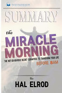 download ebook summary - the miracle morning pdf epub