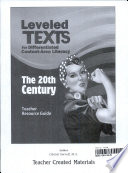 Leveled Texts for Differentiated Content  Area Literacy  The 20th Century