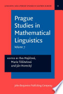 Prague Studies in Mathematical Linguistics