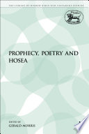 Prophecy  Poetry and Hosea