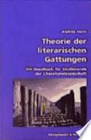 Theorie der literarischen Gattungen