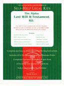 The Alpha Last Will and Testament Kit