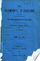 Gli elementi d'Euclide