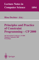 download ebook principles and practice of constraint programming - cp 2000 pdf epub