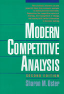 Modern Competitive Analysis