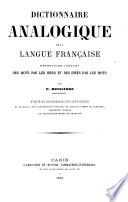 Dictionnaire analogique de la langue française