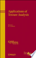 Applications Of Texture Analysis book