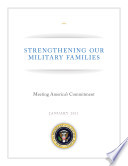 Strengthening Our Military Families Meeting America S Commitment