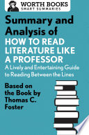 Summary and Analysis of How to Read Literature Like a Professor