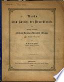 Rede bein antritt des prorektorats der königlich bayerischen Friedrich-Alesanders-Universitat etc. (1882).