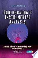 Undergraduate Instrumental Analysis  Seventh Edition