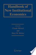 Handbook of New Institutional Economics