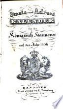 Staats- und Adresskalender für das Königreich Hannover