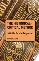 The Historical Critical Method  A Guide for the Perplexed