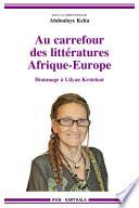 Au carrefour des litt  ratures Afrique Europe