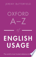 Oxford A Z of English Usage