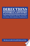 Directions of a Pastoral Lifetime