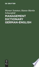 Management Dictionary, German-English