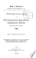 Annual Report  Connecticut Agricultural Experiment Station for
