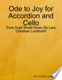 Ode to Joy for Accordion and Cello - Pure Duet Sheet Music By Lars Christian Lundholm