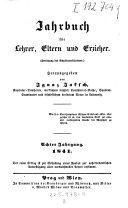 Jahrbuch f  r Lehrer  Eltern und Erzieher