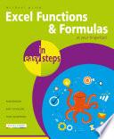 Excel Functions Formulas In Easy Steps