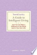 Town and Country  the Guide to Intelligent Giving