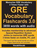 GRE Vocabulary Flashcards 3 0