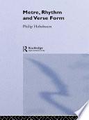 Metre  Rhythm and Verse Form