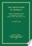 The Institution of Property