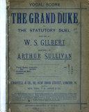 The Grand Duke, Or, The Statutory Duel