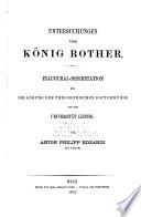 Untersuchungen über König Rother